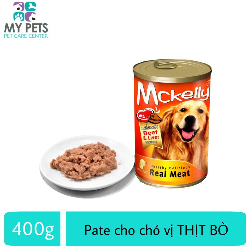 Thức Ăn Pate Mckelly Cao Cấp Hương Vị Thịt Bò Dành Cho Chó Lớn - Lon 400g