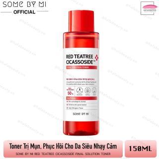 Nước Hoa Hồng Giảm Mụn, Phục Hồi Cho Da Nhạy Cảm Some By Mi Red TeaTree Cicassoside Final Solution Toner 150ml thumbnail