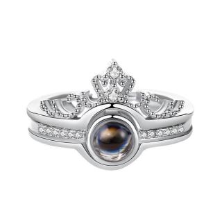 Nhẫn Bạc Nữ Vương Miện Đính Đá Sang Trọng Bảo Ngọc Jewelry XB-N35 thumbnail