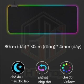 Bàn Di Chuột RGB, Lót Chuột Pad RGB Có Đèn Led Viền Siêu Đẹp, Bản Rộng thumbnail