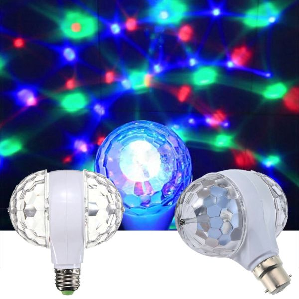 A5TG Nóng bức Tiệc Giáng sinh LED 6W Hai đầu Đèn Disco Bóng đèn sân khấu Quả cầu pha lê Bóng đèn xoay