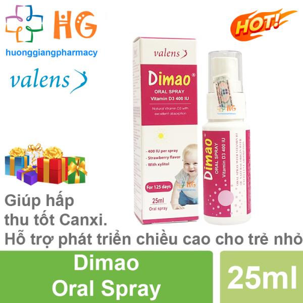 [Kèm Quà Tặng] Dimao - Vitamin D3 dạng xịt 400IU, hàng nhập khẩu châu âu, hiệu quả và hấp thu tốt (Lọ 25ml)