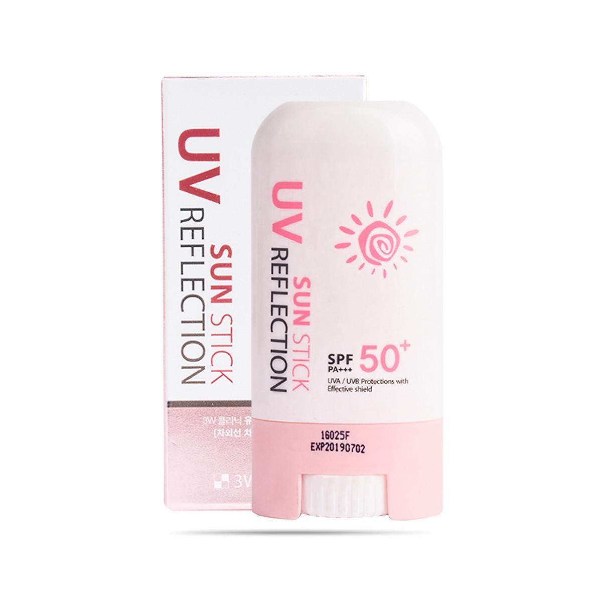 Kem Chống Nắng Dạng Lăn 3W Clinic Sun Stick UV Reflection SPF50 PA+++