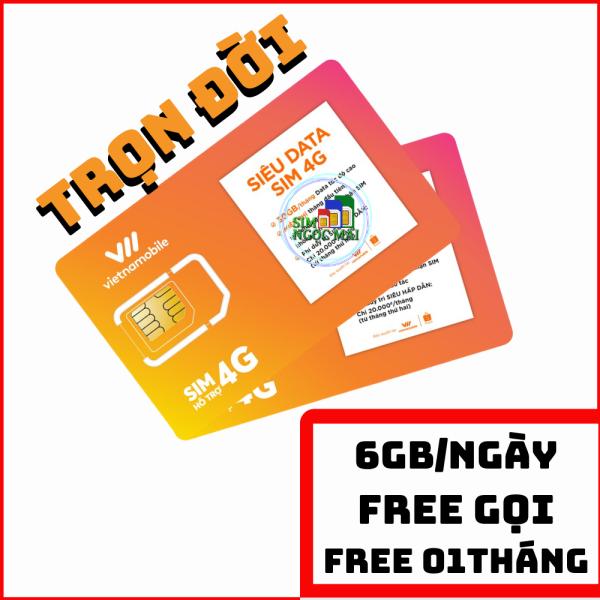 Siêu Thánh Sim 4G Vietnamobile - Trọn Đời 01 THÁNG - Miễn Phí Tháng Đầu 60Gb