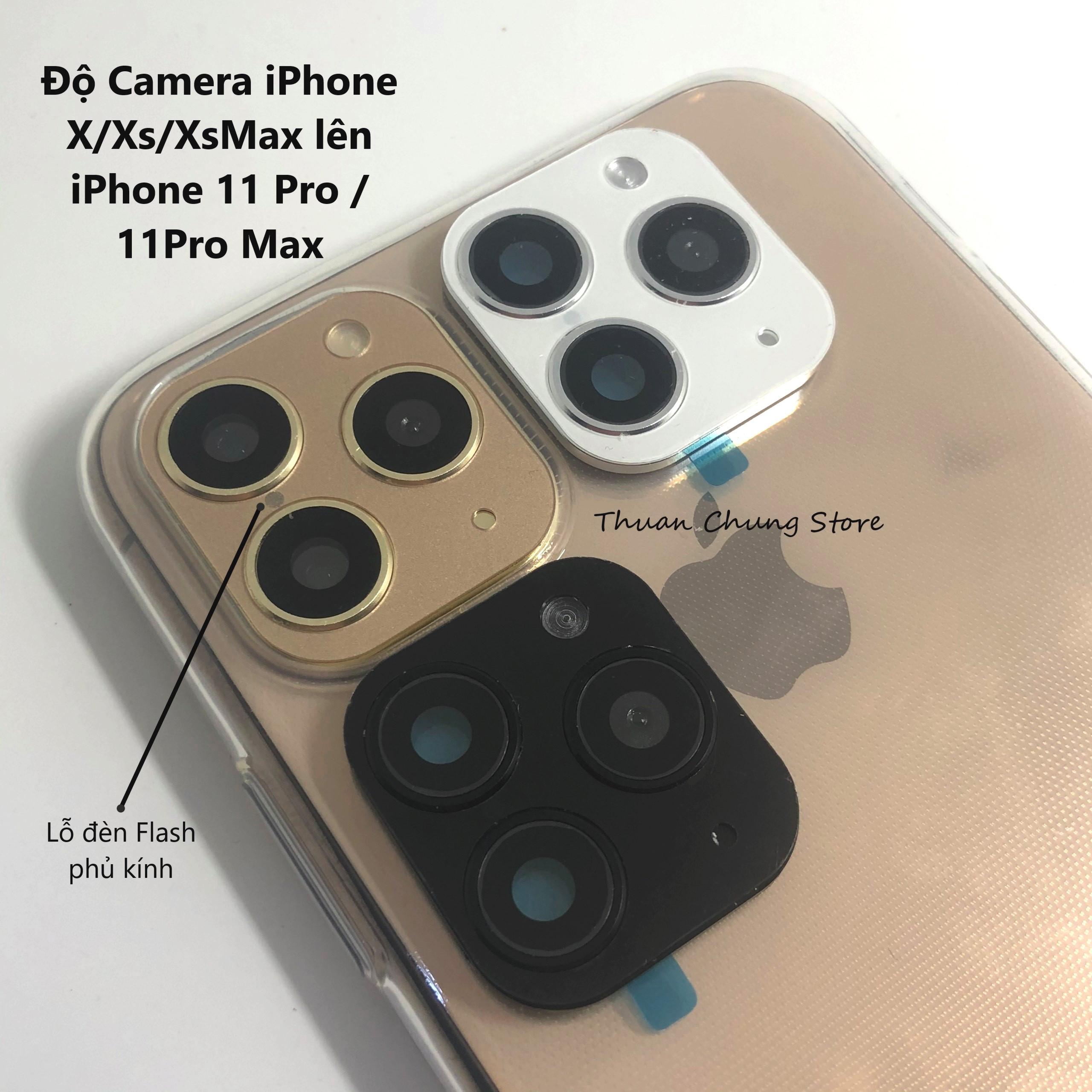 Giá Kính Độ Camera lồi có lỗ Flash Iphone 11 Pro Max cho Iphone X / Xs / Xs Max