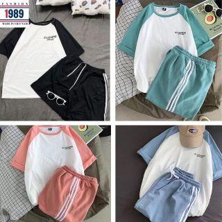 bộ thể thao nam nữ _unisex kiểu dáng hàn quốc nam nữ đều mặc được thỏa mái rất xinh kute đáng yêu ,thời trang 1989 thumbnail