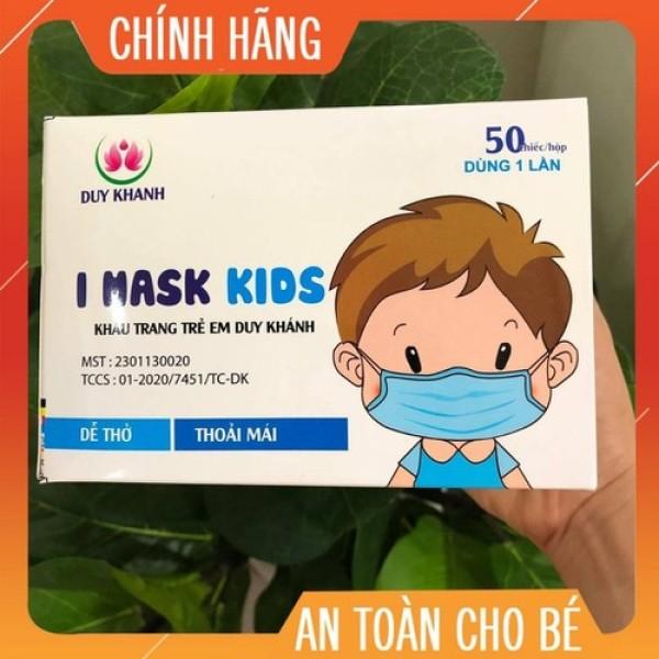 Giá bán Hộp 50 Chiếc Khẩu Trang Y Tế Cho Bé I Mask kids Duy Khánh - Vải Kháng Khuẩn 3 Lớp - Siêu An Toàn Cho Trẻ Em