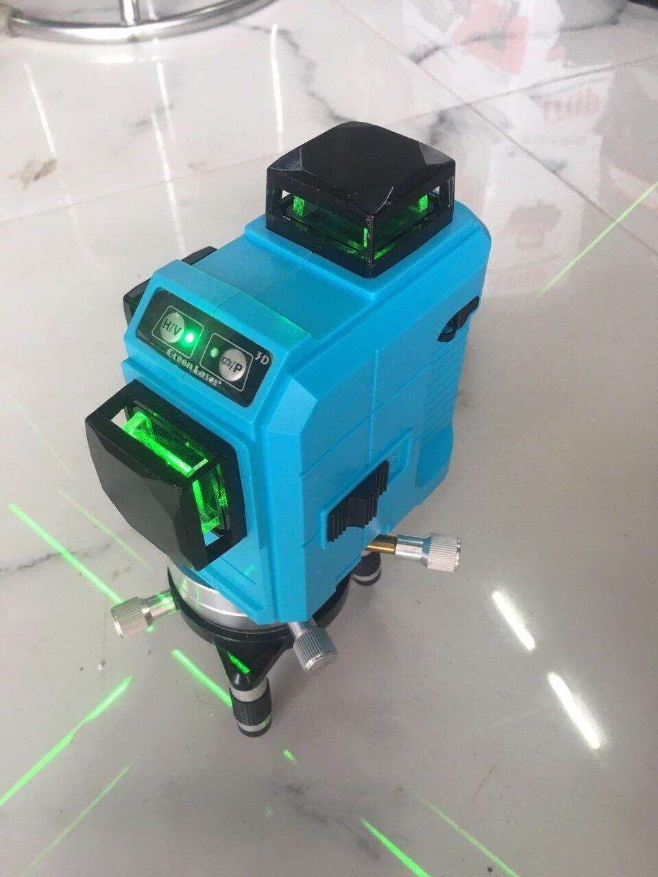 Máy Bắn Tia laser 3D -12 Tia tia xanh