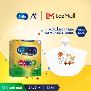 Bộ 1 hộp Sữa bột Enfagrow A+ Neuropro 4 với 2 -FL HMO cho trẻ từ 2 6 tuổi 1.1kg - Tặng áo mưa dễ thương cho bé thumbnail