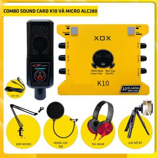 [ Phiên Bản Mới Nhất 2021 ] Trọn Bộ Mic Hát Livestream Soundcard XOX K10 ( 10th jubilee ) & Mic Thu Âm LGT-240 , Âm Thanh Cực Kỳ Sống Động - Hàng Chính Hãng , Đầy Đủ Chức Năng Autotune 16 Chế Độ ECHO, Chất Âm Siêu Sáng + Full Phu Kiện thumbnail