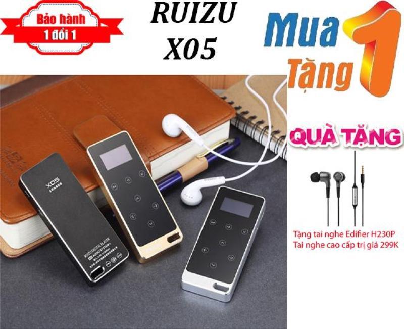 Máy nghe nhạc MP3 Lossless RUIZU X05 + Tặng Tai nghe nhét tai Edifier H230p Cao Cấp - Máy nghe nhạc pin trâu - chất lượng cao