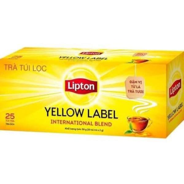 Trà Lipton nhãn vàng hộp 25 túi lọc nhỏ 2g giá rẻ