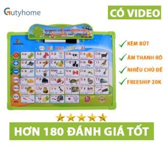 Bảng điện tử thông minh 11 chủ đề, Bảng học chữ cái đa năng, giúp bé tự phát triển toàn diện, học tập tốt thumbnail