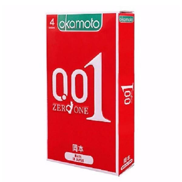 Hộp 4 bao cao su Okamoto 0.01 siêu mỏng nhất thế giới, sản phẩm cam kết đúng như mô tả, chất lượng đảm bảo, an toàn sức khỏe người dùng nhập khẩu