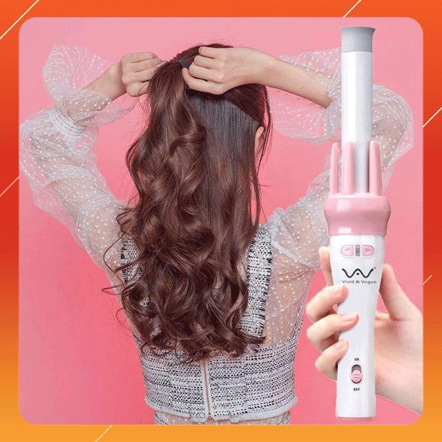 [MIỄN SHIP] Máy uốn xoăn tóc tự động 360 Vivid&Vogue, gậy uốn xoăn tóc, máy uốn tóc đa năng, máy xoăn giả, máy xoăn sóng cao cấp