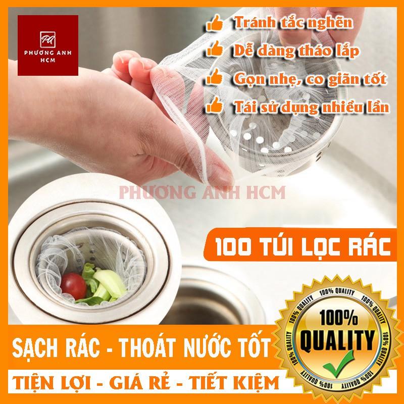 Bộ 100 Túi Lọc Rác,Thức Ăn Thừa Thông Minh Cho Bồn Rửa Chén Bát Với Giá Sốc