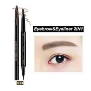 Bút Chì kẻ định hình mày kẻ mắt 2in1 NoVo Makeup Seduce 02 Màu Nâu thumbnail