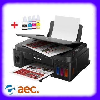 Máy in phun màu đa năng G3010 ( in photo scan wifi ) đi kèm mực hãng thumbnail