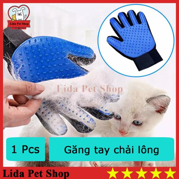 HN- (1 chiếc)  GĂNG TAY CHẢI LÔNG THÚ CƯNG (có thể bám dính lông chó mèo) chải lông và nhặt lông chó mèo