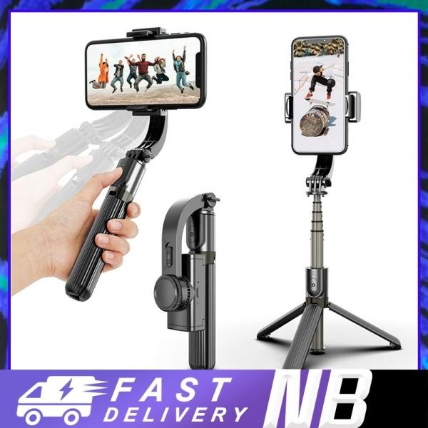 【BH 1 ĐỔI 1】Tay Cầm Chống Rung Điện Tử Gimbal L08 Có Bluetooth - Gimbal Điện Thoại Chống Rung - Có Chân Đỡ Tự Đứng-NBL08