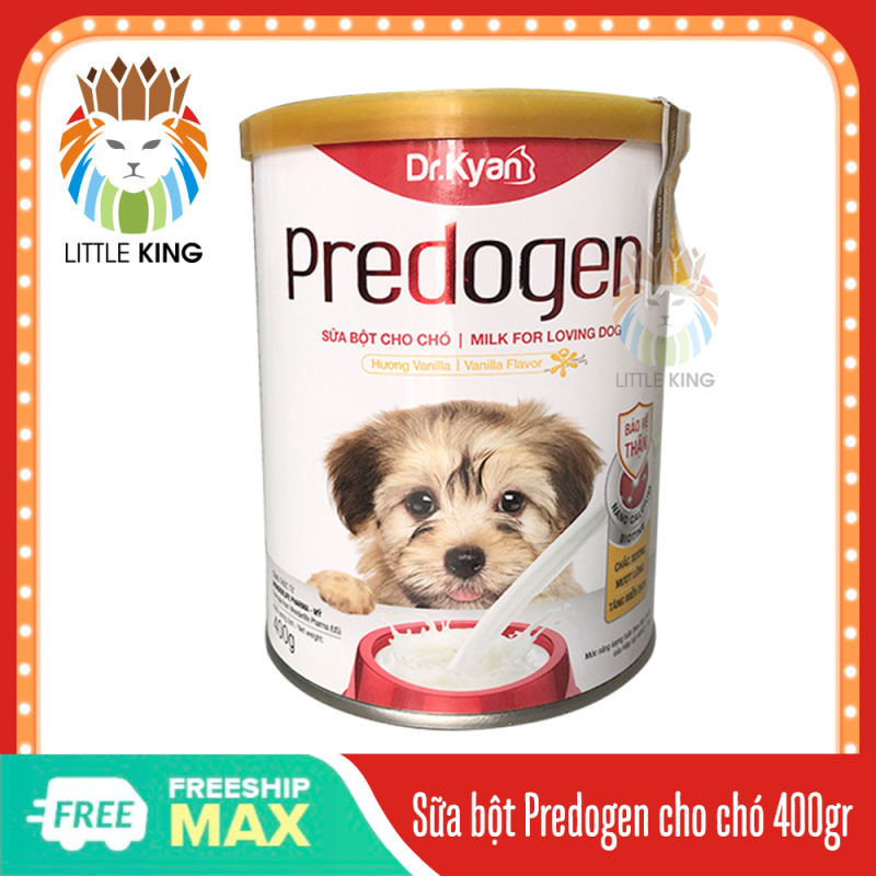 Sữa bột cho chó Dr.Kyan Predogen hộp 400gr cung cấp dinh dưỡng cho chó con và chó mẹ Little King pet shop