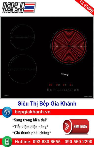 Bếp điện từ 3 vùng nấu Canzy CZ 67GHP nhập khẩu Thái Lan, bếp điện từ, bếp điện từ đôi âm, bếp điện từ đôi, bếp điện từ đôi đức, bếp điện từ đôi nhật, bếp điện từ giá rẻ, bep dien tu gia re, bep dien tu hong ngoai