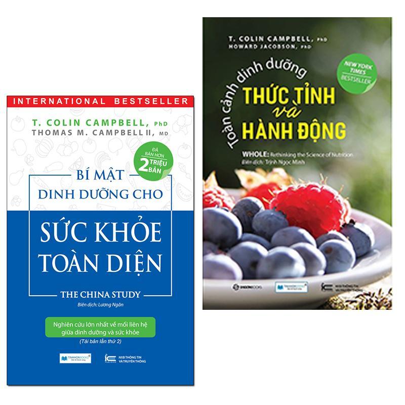 Mua Combo 2 Cuốn sách dinh dưỡng hay: Bí mật dinh dưỡng cho sức khỏe toàn diện ( Tái bản lần 2 ) + Toàn cảnh dinh dưỡng thức tỉnh và hành động