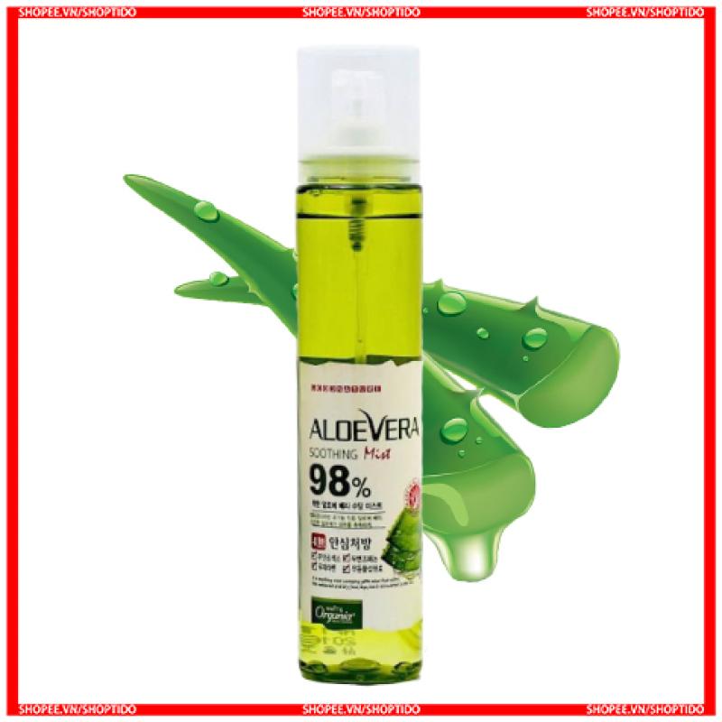 Xịt khoáng lô hội Aloevera 98% Soothing Gel Mist 118ml cao cấp
