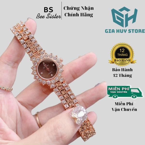Nơi bán Đồng Hồ Nữ Bee Sister Đính Đá Mặt Cánh Hoa Phong Cách Hàn Quốc - Bảo Hành 12 Tháng