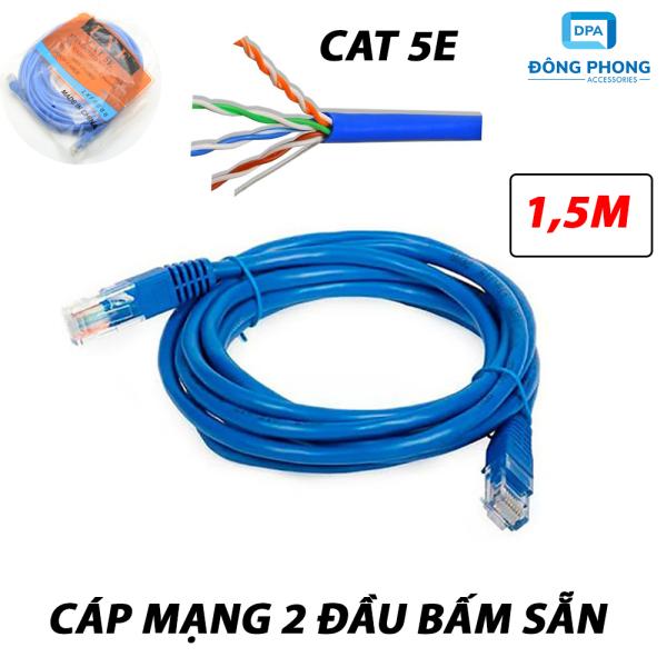 Giá Cáp mạng LXF 2 đầu bấm sẵn tốc độ CAT 5E dài 1,5m