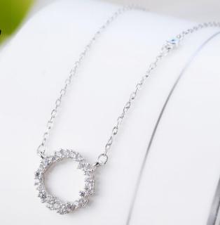 Dây chuyền nữ Huyền Thoại Biển Xanh đính đá cao cấp dây chuyền bạc đẹp vòng cổ nữ bạc S925 thumbnail