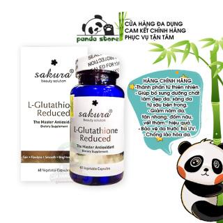 Viên uống trắng da chống lão hóa Sakura L-Glutathione Reduce giúp tăng sinh Collagen làm đẹp da mờ thâm và giảm các vết sạm nám tàn nhang nếp nhăn. Hộp 60 viên thumbnail