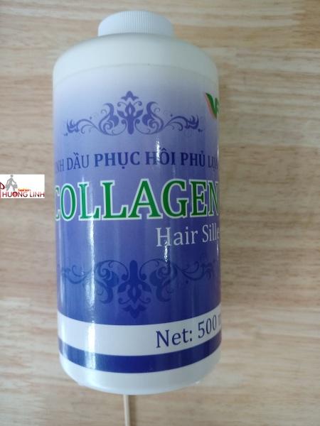 500ml Tinh dầu phục hồi phủ lụa Collagen  hair sille tím