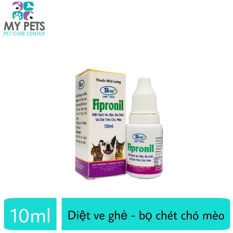 Thuốc Nhỏ sống lưng diệt ve ghẻ bọ chét cho chó mèo - Fipronil 10ml
