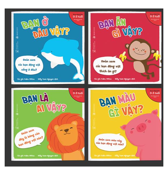 Mua Sách Ehon - Combo 4 cuốn Bạn là ai vậy - Dành cho trẻ từ 0 - 3 tuổi