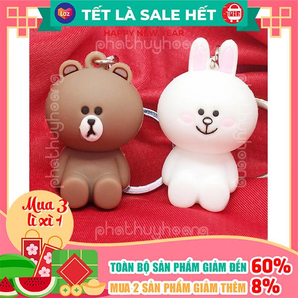 Móc khóa gấu Brown và thỏ Cony  ✓Hàng mẫu 2 ✓ móc khóa cute ✓ móc khóa xe dễ thương ✓ móc khóa anime chất lượng cao ✓ móc khóa cặp ✓móc khóa cặp đi học✓ Phát Huy Hoàng