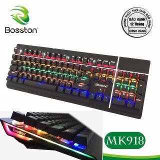 Bàn phím cơ Bosston MK 918 Phím Cơ Led RGB KB Bosston MK 918 Phím Cơ full led Chuyên Game USB Keyboard Bosston MK918 (Phím cơ Led) KB Bosston K 918 Phím Cơ full led Chuyên Game USB Bàn Phím Cơ Chuyên Game Bosston MK918 thumbnail