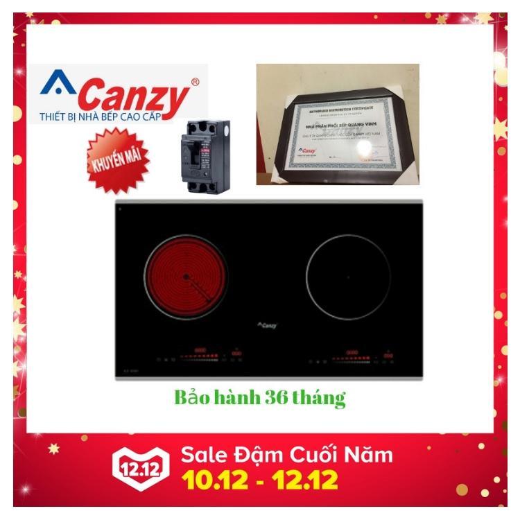 Bếp từ hồng ngoại kết hợp Canzy CZ 06H tặng Aptomat