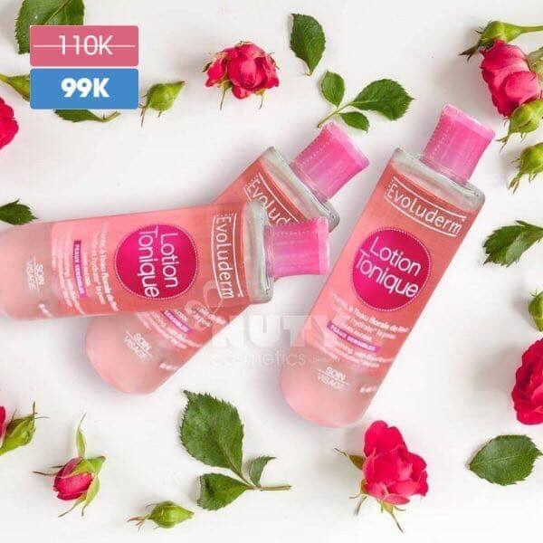 [Có Mã Giảm giá] Nước hoa hồng giữ ẩm cho da không cồn Evoluderm Lotion Tonique 250ml - TinaVu Store tốt nhất