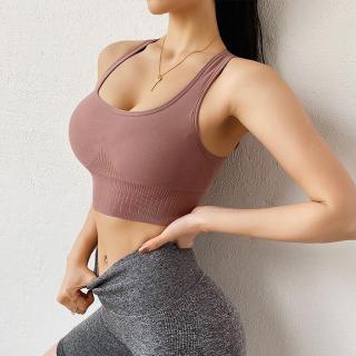 Áo bra tập gym nữ áo lót thể thao nữ dáng croptop cài sau kèm mút ngực lưng dây phối siêu nâng ngực tôn dáng đồ tập gym nữ tập yoga nữ giá rẻ 928 thumbnail