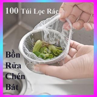 FREESHIP 100 túi rác lọc rác bồn rửa chén túi thông minh lọc rác bồn rửa bát đồ tiện ích gia đình rẻ thumbnail