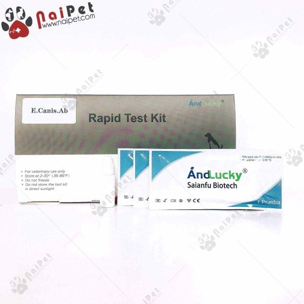Que Test Xét Nghiệm Bệnh Ở Chó Mèo And Lucky TVR003 - test ký sinh trùng E Canis Ab cao cấp