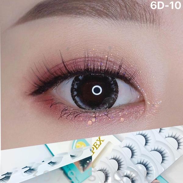 Lông Mi APEX 6D-10 Loại Chuyên Nghiệp Cho Makeup - Hộp 5 Cặp Mi