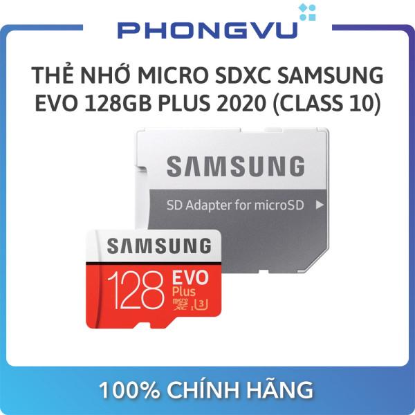 Thẻ nhớ Micro SDXC Samsung 128GB EVO Plus 2020 MB-MC128HA/APC (Class10) - Bảo hành 36 tháng