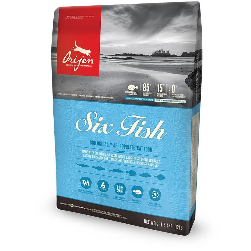 Hạt Orijen Six Fish cho mèo - Bao 5,4kg