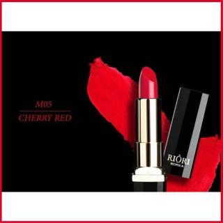 Son lì pha dưỡng lên màu chuẩn, bền màu, lâu trôi không gây khô, thâm môi Hara White Riori Matte Me Lipstick chính hãng dạng thỏi 3,5g - M05 ĐỎ CHERRY thumbnail