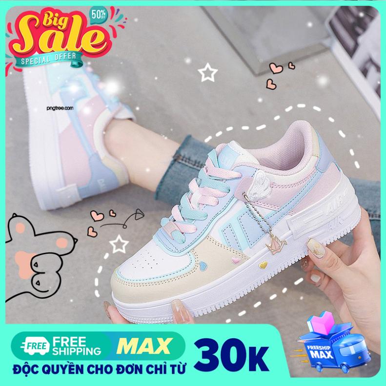 Giày sneaker nữ, giày nữ AIR force Đế thơm Kiểu dáng năng động Đế độn 4cm chống trơn Mang êm chân Phù hợp với mọi lứa tuổi giá rẻ