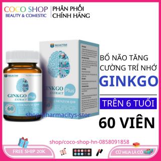 COMBO 2 HỘP Viên uống bổ não Ginkgo Extra Plus hộp 60 viên HSD 2023 tăng cường trí nhớ , giảm đau đầu chóng mặt, giúp ngủ ngon và giảm nguy cơ đột quỵ- hoat huyet bo nao - hoạt huyết dưỡng não thumbnail