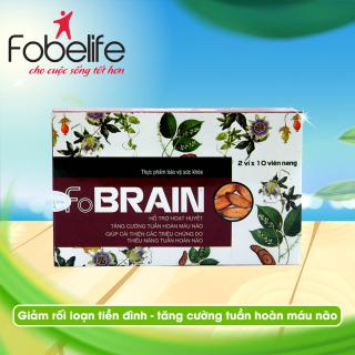 Hỗ trợ rối loạn tiền đình, tăng cường tuần hoàn máu lên não, giảm đau đầu- FOBRAIN thumbnail