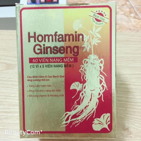 Viên Uống Homfamin Ginseng Hộp 60 Viên cao cấp